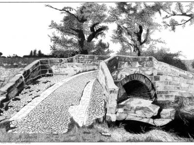 Central Bridge Pen And Ink Drawing