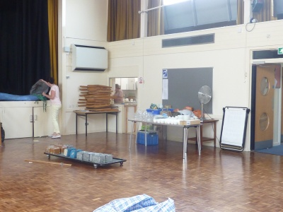 Community Centre Hall during Clear-out