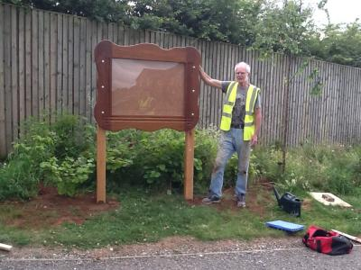 Erection Of Taylor Wimpey Notice Board