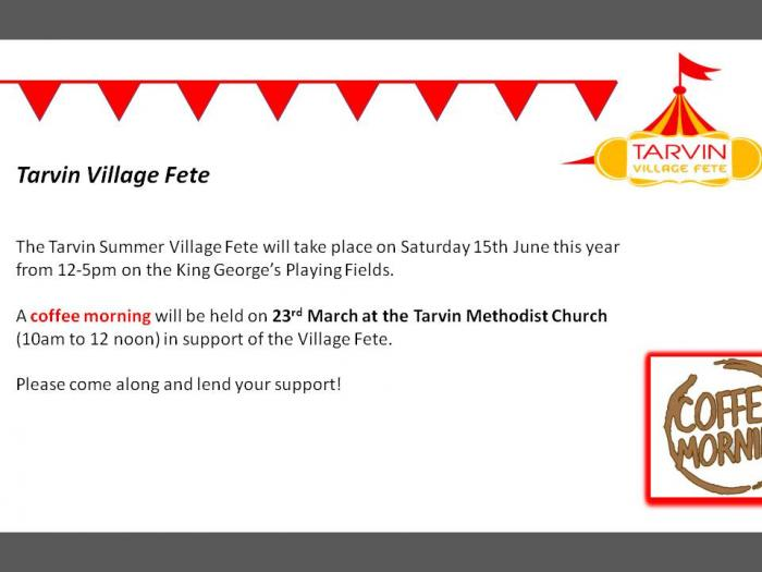 Summer Fete Fundraiser Coffee Morning