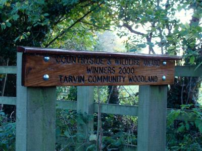 Townfield Lane Oak Award Sign